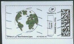 Protegeons La Terre Et Les Arbres Vignette Personnalisée - 2010-... Illustrated Franking Labels