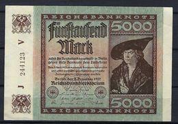 ALLEMAGNE 1923:  Billet De 5'000 Mark De La Reichsbank, Bon état - [ 3] 1918-1933 : Repubblica  Di Weimar