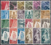 ESPAÑA 1956-1957 Nº 1185/1208 AÑOS COMPLETOS USADOS 24 SELLOS - Full Years