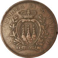 Monnaie, San Marino, 10 Centesimi, 1875, TB+, Cuivre, KM:2 - San Marino
