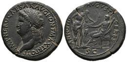 NERON. Sestercio. (Ae. 26,18g/36mm). 65 D.C. Lugdunum. (RIC 495). EBC. Extraord - 1. The Julio-Claudians (27 BC To 69 AD)