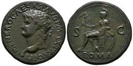 NERON. Sestercio. (Ae. 27,81g/36mm). 67 D.C. Lugdunum. (Lyon 268). MBC+/EBC. Po - 1. The Julio-Claudians (27 BC To 69 AD)