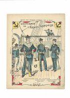 ÉQUIPAGES DE LA FLOTTE Grades Uniformes Armée Française Protège-cahier Couverture 220 X 175  TB Rare - Schutzumschläge