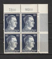 Adolf Hitler  MiNr. 798 ** Oberrand Bogenecke  (0248) - Neufs
