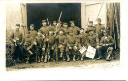 N°2428 R -carte Photo 18è Régiment Artillerie  Ou Infanterie ? Journal La Petite Gironde- - Regiments