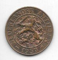 Netherlands Antilles 2,5 Cent  1959   Km 5   Xf+/ms60 - Antillen (Niederländische)