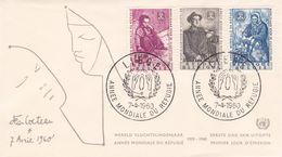 B01-173 BELG.1960 1125-1127 FDC Liège  Wereldjaar Vd Vluchteling Année Mondiale Du Réfugié  2.5€ - Maximum Cards