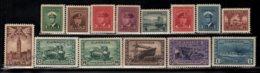 Canada 1943-48 Yvert 205-18, Definitive Set, Royalty. King George VI. War. Warships & Tanks. Propaganda - MNH - 1937-1952 Règne De George VI