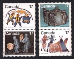 Canada 1979 Yvert 713-16, Culture. Inuit People. Community & Shelter - Vertical Pairs - MNH - 1952-.... Regering Van Elizabeth II
