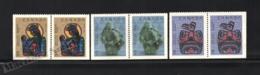 Canada 1990 Yvert 1161a-63a, Christmas. Art. Paintings & Sculptures - Pairs 3 Perforated Sides - MNH - 1952-.... Regering Van Elizabeth II