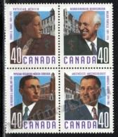 Canada 1991 Yvert 1176-79, Famous People. Canadian Doctors - Block 4 - MNH - Nuevos