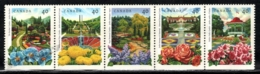 Canada 1991 Yvert 1185-89, Environment. Flora. Public Gardens - Strip - MNH - 1952-.... Regering Van Elizabeth II