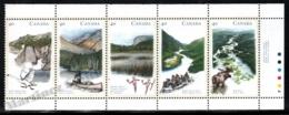 Canada 1991 Yvert 1199-203, Geography. Environment. Nature. Rivers - Strip W Borders - MNH - 1952-.... Regering Van Elizabeth II