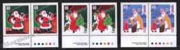 Canada 1991 Yvert 1213a-15a, Christmas. Santa Claus - Pairs 3 Perforated Sides W Border - MNH - 1952-.... Regering Van Elizabeth II