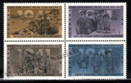 Canada 1991 Yvert 1218-21, War. Military. 50th Anniv World War 2, Soldiers. Total War - Block 4 - MNH - Nuevos
