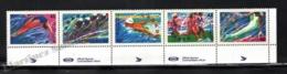 Canada 1992 Yvert 1244-48, Sports. Barcelona Olympic Games - Strip W Border - MNH - 1952-.... Regering Van Elizabeth II