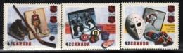 Canada 1992 Yvert 1280-82, Sports. Ice Hockey, 75th Anniv National Hockey League, NHL - MNH - 1952-.... Regering Van Elizabeth II