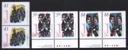 Canada 1994 Yvert 1394a-96a, Christmas. Music. Carol Singers - Pairs 3 Perforated Sides - MNH - 1952-.... Regering Van Elizabeth II