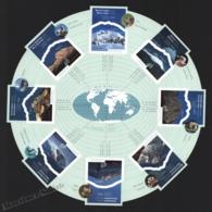 Canada 2002 Yvert 1957-64, Environment. Nature. International Year Mountains. Planisphere - Miniature Sheet - MNH - Neufs