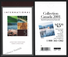 Canada 2002 Yvert C1942, Tourism. Canadian Tourist Attractions. Landscapes - International Booklet - MNH - Nuevos