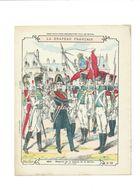 Le DRAPEAU FRANÇAIS La Légion De La Sarthe 1816 Didactique Protège-cahier Couverture 220 X 175 TB Rare - Schutzumschläge