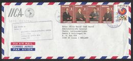 Costa Rica: Airmail Cover To Netherlands, 1992, 5 Stamps, Olympics Seoul, Sports, Famous Persons (traces Of Use) - Costa Rica