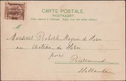 Belgique 1900. Carte Postale  De Bruxelles Pour Les Pays-Bas. 2 C Préo Roulette De Bruxelles. Usage Frauduleux Rare - Roller Precancels 1900-09