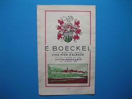 (1949) Vins Fins D'Alsace E. BOECKEL à Mittelbergheim - Advertising