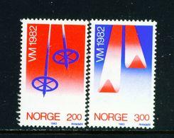 NORWAY - 1982 Ski Championships Set Unmounted/Never Hinged Mint - Norwegen