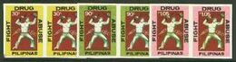 Philippines 1979, Fight Drug Abuse, 3val In Pair IMPERFORATED - Droga