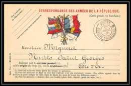42252 Carte Postale En Franchise Poste Bureau Frontière B Nuits St Georges Cote D'or 1917 1915 Guerre 1914/1918 War Post - 1. Weltkrieg 1914-1918