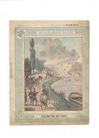 Destruction Des Ponts Anecdotes Militaires 1870 Didactique Protège-cahier Couverture 220 X 175 Bien - Schutzumschläge