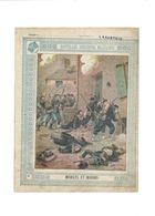Mobiles Et Marins Anecdotes Militaires 1870 Didactique Protège-cahier Couverture 220 X 175 Bien - Schutzumschläge