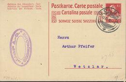 SCHWEIZ  MiNr. P  74 Mit Stempel: Goldau 13.XI.1915 - Enteros Postales