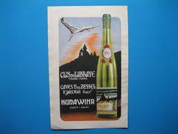 (1949) Vins D'Alsace : Clos De L'Abbaye - Caves Theo ZESSEL à Hunawihr -- Kaefferkopf - Ernest KUEHN à Ammerschwihr - Advertising