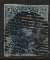 N°4 Bien Margé Obl. COB 70€ - 1849-1850 Medallions (3/5)