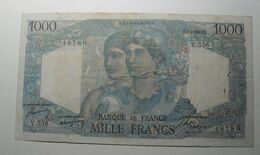 1949 - France - MILLE FRANCS, Minerve Et Hercule, Q.7-4-1949.Q. V.556 46780 - 1871-1952 Antichi Franchi Circolanti Nel XX Secolo