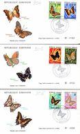 GABON 0304/09 Fdc Papillon, Cachet Illustré - Farfalle