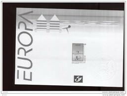 Belgie 2003 3179  EUROPA CEPT Kust Coast Affiche  Velletje Feuille Blanc Noir  RR - Feuillets Noir & Blanc