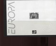 Belgie 2002 Europa CEPT 3071 CIRCUS  Zwart-wit Velletje OCB15€ - Feuillets Noir & Blanc