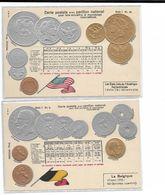 11 Cartes Anciennes  Représentant Des Pavillons Et Des Monnaies De Plusieurs Pays - Monnaies (représentations)