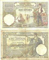 Yugoslavia (Kingdom)- 100 Dinar 1929 VF - Jugoslawien