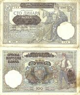 Serbia - 100 Dinar 1941 VF - Serbia