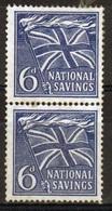 GB Second World War Issue - 6d National Savings Cinderella Stamp In Pair. - Cinderella