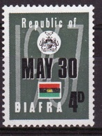 Biafra 1968 Single 4d Stamp From The Set To Celebrate Independence. - Nigeria (1961-...)