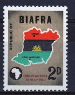 Biafra 1968 Single 2d Stamp From The Set To Celebrate Independence. - Nigeria (1961-...)