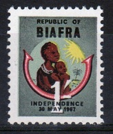 Biafra 1968 Single 1/- Stamp From The Set To Celebrate Independence. - Nigeria (1961-...)