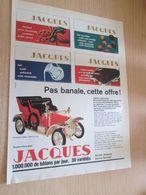 SPI720 Page De Publicité CHOCOLATS JACQUES + Voiture Miniature Oldtimer , Issue D'un Spirou Belge Des 60's - Chocolat