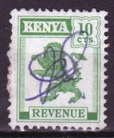 Kenya 1957 Ten Cents Revenue Stamp Fiscally Used. - Kenia (1963-...)