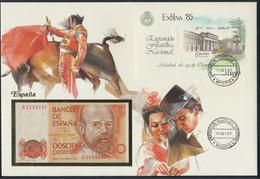 Geldschein Banknote Banknotenbrief Spanien Spain 200 Peseten 1985 - Billets